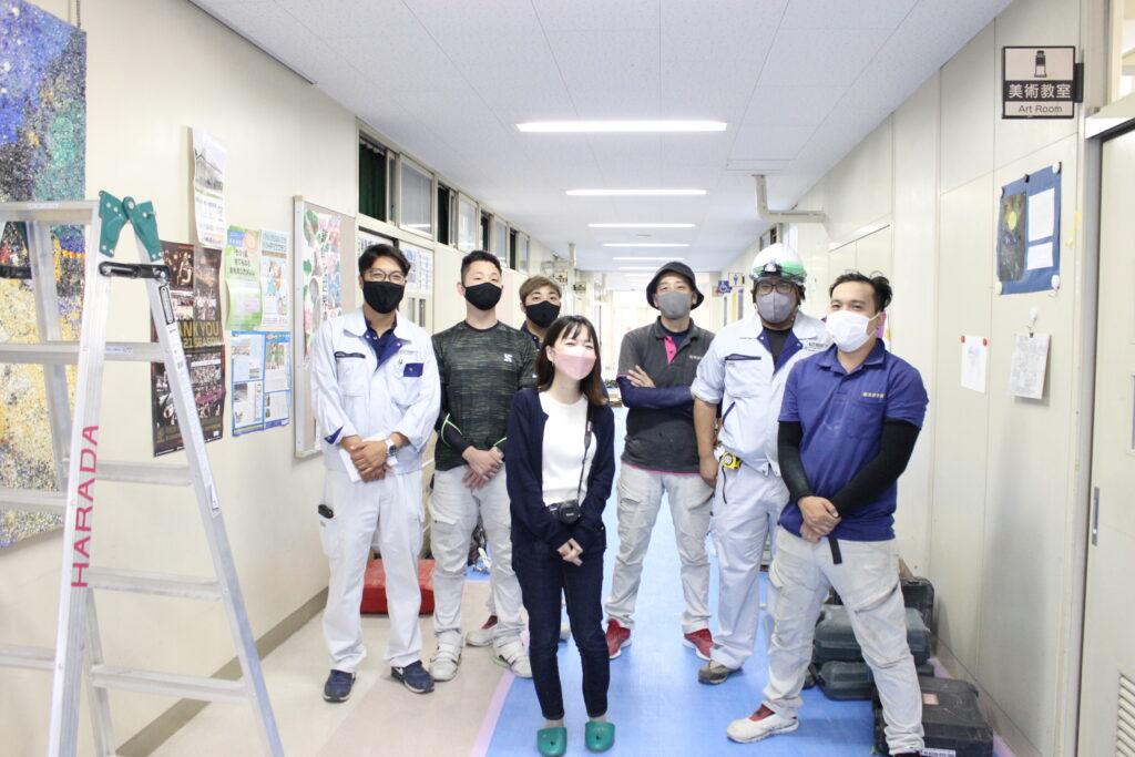 オーソリティー空調 施工現場 施工管理 職人 メンバー